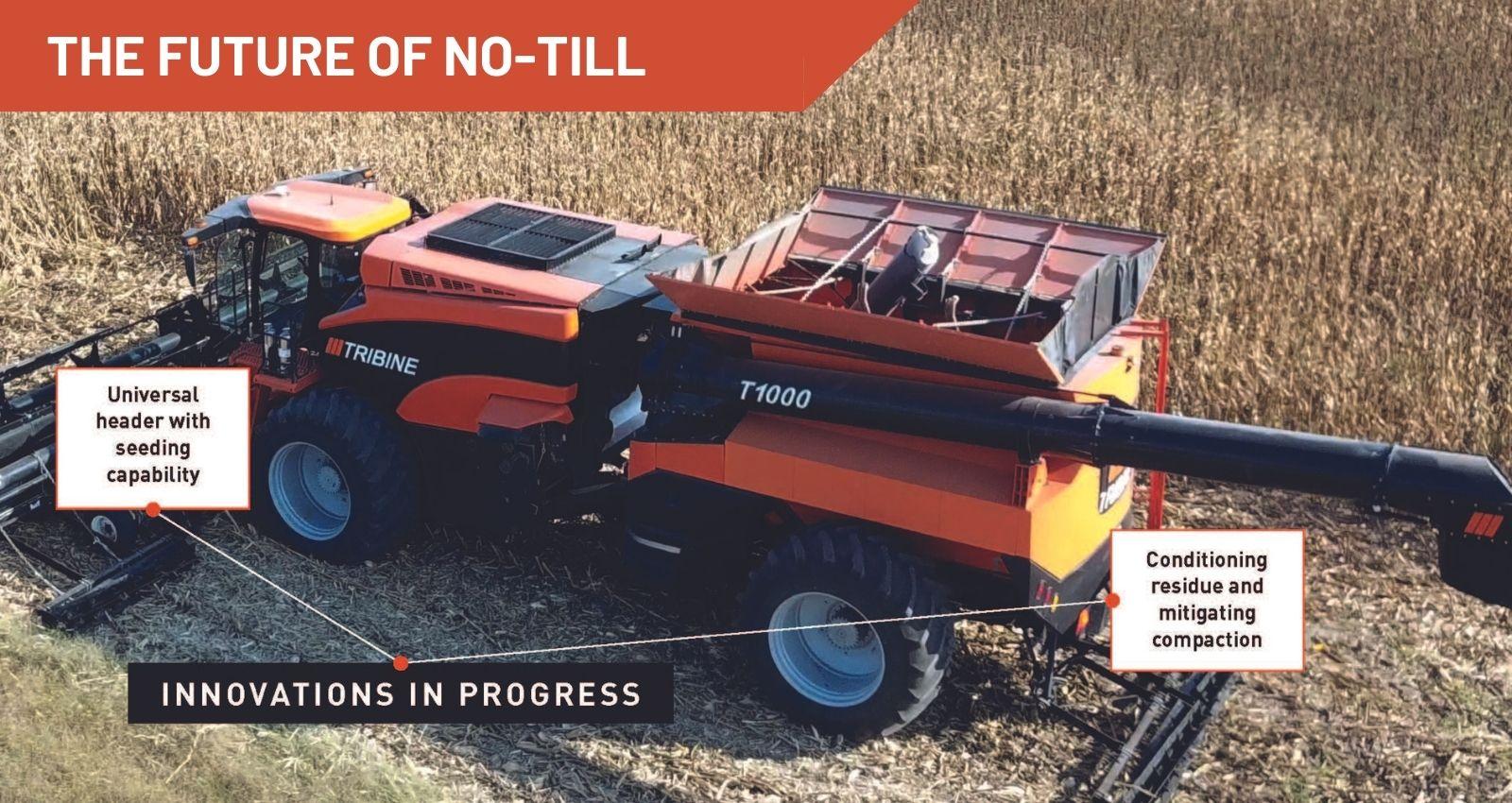 Tribine in corn field
